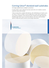 Corning Celcor - Standard Wall Substrates Brochure