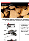 OREGON - 22-Ton Log Splitter  - Brochure