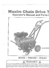 Model M30NB - Mini Tiller Manual