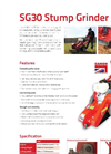 Camon - Model SG30 - Stump Grinder Brochure