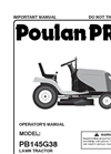Poulan Pro - Model 2-10-10 - Riding Tractors Mowers- Manual