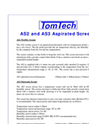 Tomtech - Model AS2 and AS3 - Aspirated Screens Datasheet