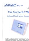 Tomtech - Model T200 - Horticultural Computer Datasheet