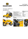 Zeroturn Garden Tractors for Residential Use HU RAPTOR 42 Series- Brochure