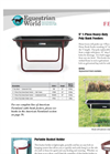 One Piece Heavy Duty Poly Bunk Feeders- Brochure