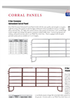 6 Bar Economy Galvanized Corral Panel- Brochure