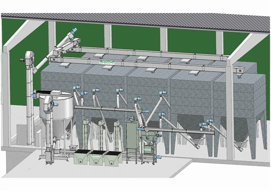 5 t/h feed mill