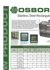Osborne - Stainless Steel Rectangular Feeders Manual