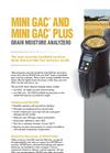 Model GAC & GAC Plus - Grain Moisture Analyzers Brochure