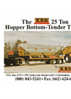 KBH - Model 26 Ton - Side Discharge Tender Trailer Manual