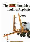 KBH - Model 710 Gallon - Front Mount Tool Bar Applicators Brochure