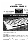 Bridge - Chain Harrow Owner's Manual