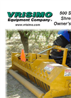 Vrisimo - Model 500 Series - Brush Flail Shredder Manual