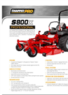 S800x - Zero Turn Mower Full Specification Brochure