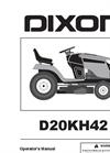 Dixon - Model D20KH42 - Tractors - Brochure