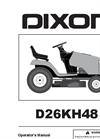Dixon - Model D26KH48 - Tractors  Brochure