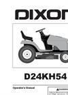 Dixon - Model D24KH54 - Tractors - Brochure