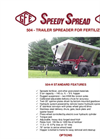 Model 504 - Trailer Spreader for Fertilizer - Datasheet