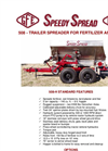 Model 508 - Trailer Spreader for Fertilizer and Lime - Datasheet