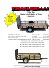 Model UST5010N35 - Tube Top Single Axle Utility Trailer with Gate Brochure