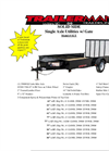 Model SUT6012N35 - Solid Side Single Axle Utility Trailers with Gate Brochure