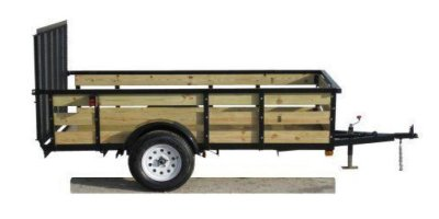 Model UST5010N35 - Tube Top Single Axle Utility Trailer with Gate