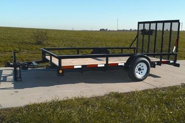 Hudson Bros - Model Pro Series HSLG 12 - 3500 Lb. Capacity - Tandem Axle Landscape Trailer