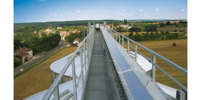Open Galvanized Catwalks for Conveyors