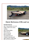 Great Northern - Deck Between Trailers - Brochure