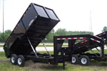 Model 7 X 16 - 7 TON GN DUMP TRAILER