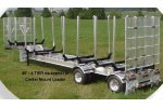 Aluminum Drop Deck Crib Trailer
