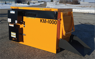KM International - Model KM-1000 - Half-Ton Skid Mount Asphalt Hot Box Reclaimers