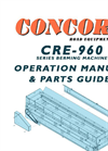 Concord - Model CRE-960 BERMER - Under Tailgate Hydraulic Driven Cross Conveyor - Manual