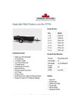 Single Axle Utility Trailers (2,990 lbs. GVWR) Datasheet