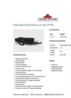 Single Axle Dump Trailers (5,200 lbs. GVWR) Datasheet