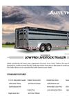Low Pro - Gooseneck Livestock Trailers Brochure