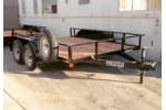 Model 50TR - Tandem Axle Utility Trailer