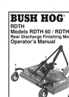 Rear Discharge Finishing Mowers RDTH 72- Brochure