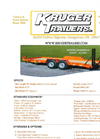 KRUGER - Model 06DW96-180K6SER16 - Custom Built Trailers - Brochure