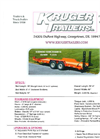 Kruger - Model 03DW96-180K35SER16 - Custom Built Trailers - Brochure