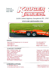 KRUGER - Model 07D102-180K7SER16 - Custom Built Trailers - Brochure
