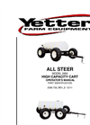 Yetter - Model 2000-001 - 1600 Gallon All Steer Fertilizer Cart Brochure