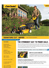 Push Lawn Mowers Signature Cut Series- Brochure