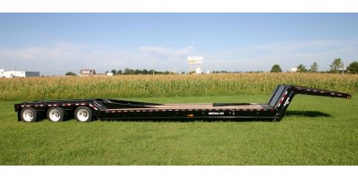 Hydraulic Folding Gooseneck Railroad Trailer