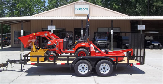 BX1870 Tractor Package#25-18 HP, 4WD, Kubota Loader, 4ft Howse Box Blade, 4ft Howse Bush Hog and 16f