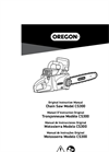 Oregon - Model CS300 - Chainsaw Manual