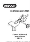 Kinetic Log Splitter Manual