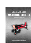 Powerhouse - Model XM-380 7 Ton - Log Splitter Manual