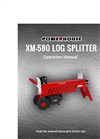 Powerhouse - Model XM-580 9 Ton - Log Splitter Manual