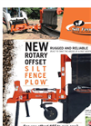 Silt Fence - Rotary Offset Plow - Datasheet